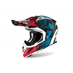 Kask Airoh Aviator ACE Kybon Blue/Red Gloss Enduro Cross 1040g