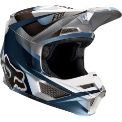 Kask FOX V-1 Junior Motif blue/grey