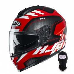 Kask HJC C70 Koro Black Red White + kominiarka