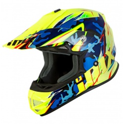 Kask IMX FMX-01 Junior Camo Flo Yellow