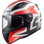 Kask LS2 FF353 Rapid Grid White Red