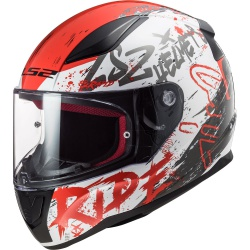 Kask LS2 FF353 Rapid Naughty White Red H-V Yellow