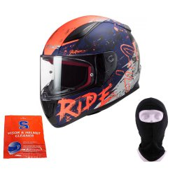 Kask LS2 FF353 Rapid Naughty Matt Blue Orange