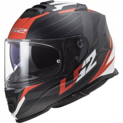 Kask LS2 FF800 storm nerve matt black red