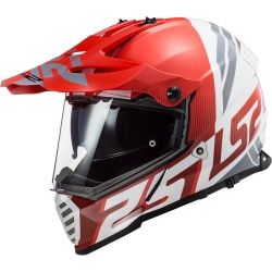 Kask LS2 MX436 Pioneer Evo Evolve Red White Supermoto