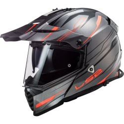 Kask LS2 MX436 Pioneer Evo Knight Titan Orange Supermoto