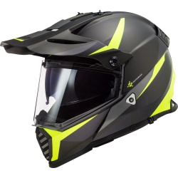 Kask LS2 MX436 Pioneer Evo Router H-V Yellow Supermoto