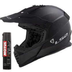 Kask LS2 MX437 Fast Evo Matt Black Enduro