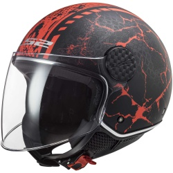 Kask LS2 OF558 Sphere Lux Snake Matt Black Red