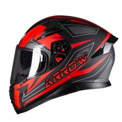 Kask Ozone Integralny Arrow Black Grey Fluo Red