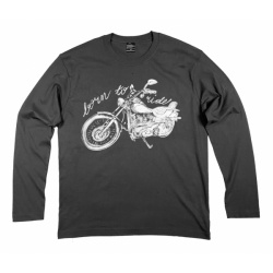 Bluza longsleeve czarny męski model Born to Ride