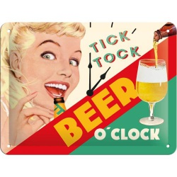 Metalowy Plakat 15 x 20cm Beer O Clock Lady