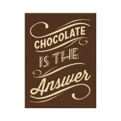 Magnes na lodówkę Chocolate is the Answer