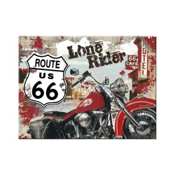 Magnes na lodówkę Route 66 Lone Rider