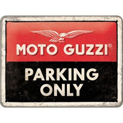 Metalowy Plakat 15 x 20cm Moto Guzzi Parking On