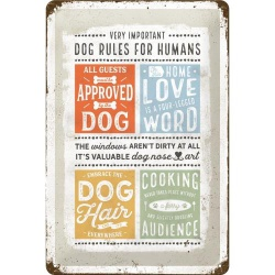 Metalowy Plakat 20 x 30cm PfotenSchild  Dog Rule