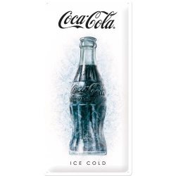 Metalowy Plakat 25 x 50cm Coca-Cola Ice Cold