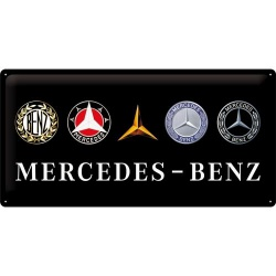 Metalowy Plakat 25 x 50cm Mercedes Logo Evolution