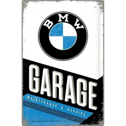Metalowy Plakat 40 x 60cm BMW Garage