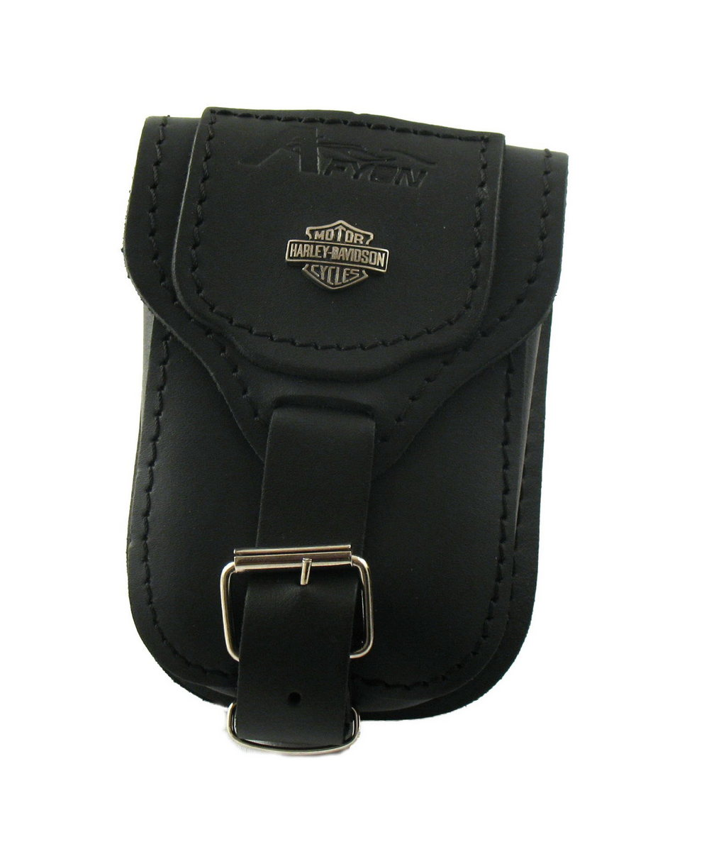 b8c10e44a5c62 Skórzany portfel - kieszonka z małym znaczkiem Harley Davidson ...